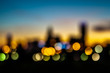 abstract city skyline silhouette at early morning sunrise - 98855007