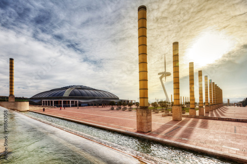Poster BARCELONA - April 10 2013 : View of Camp Nou stadium before the