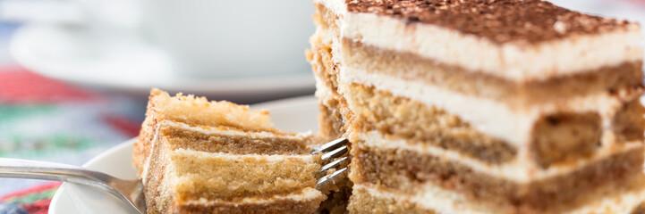 Tiramisu cake with cup of coffee © Mariusz Blach