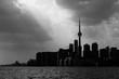 Silhouette of Toronto skyline