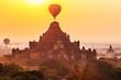 Sunrise over Dhammayangyi temples, Bagan, Myanmar.