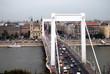 Leinwanddruck Bild - Elisabethbrücke, Budapest