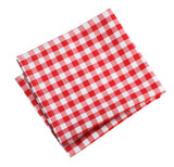 Fototapety Table cloth kitchen red color isolated.