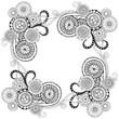 Ornate doodle pattern background