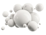 abstract group of white spheres on white