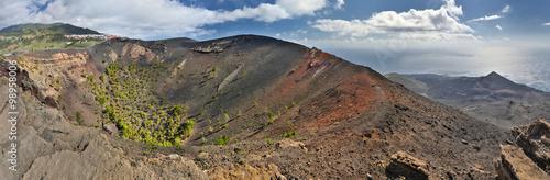 HDR-Panorama of volcanos San Antonio an Teneguia (La Palma, Canary Islands)