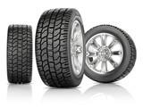 Fototapety Tires on white background