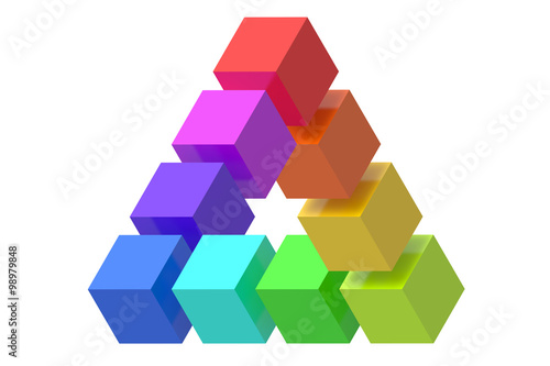 Impossible triangle optical illusion © alexlmx