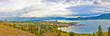 kelowna and lake okanagan panorama,