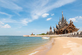 Fototapety thailand scenery of the sanctuary of truth