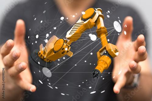 Poster robot