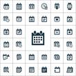 calendar icons universal set
