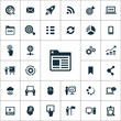 digital marketing icons universal set