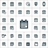 kalendář ikony univerzální sadu