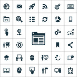 digital marketing icons universal set