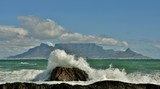 Seascape with Table mountain and the Atlantic Ocean