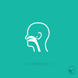 Ear, nose and throat clinic symbol