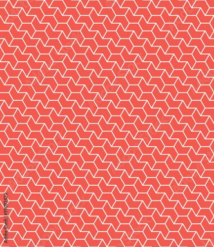diagonal red chevron pattern