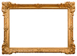 Fototapety Gold picture frame. Isolated on white background