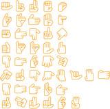 日本語の手話アイコン