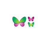 Purple and blue colored butterfly logotype design