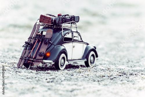 Poster diorama - old car