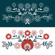 folkowe kwiaty - 2 rodzaje