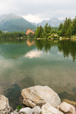 Mountain lake Strbske Pleso in High Tatras, Slovakia