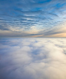 Cloudy sundown, top view