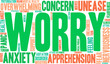 Detaily fotografie Worry Word Cloud