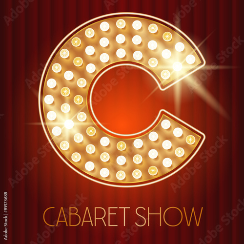 letters in the alphabet vector shiny gold lamp alphabet in cabaret show style 1459