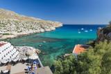 Fototapeta Do akwarium - Zatoka na Majorce - hotele i jachty © pabisiak