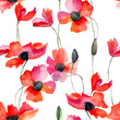 Seamless wallpaper with Poppy flowers - 99199651