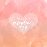 Heart on watercolour valentines day background