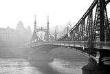 Bridge in the fog. Budapest, Hungary.