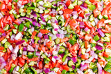 Food background of healthy Turkish shepherd salad