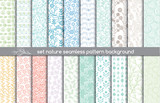 Fototapety set nature seamless patterns.pattern swatches included for illustrator user, pattern swatches included in file, for your convenient use.