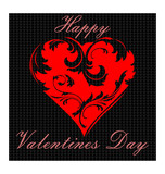 Красное Сердце. День Святого Валентина. Символ Любви