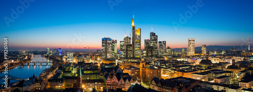 Frankfurt am Main Cityscape Panorama