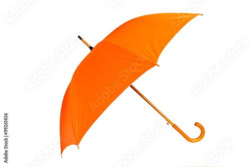 Juliste Orange umbrella on white background