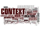 Context tags on white