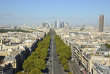 View over Paris, Neuilly and La Défense business district in France.