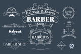 Fototapety barber shop logotypes