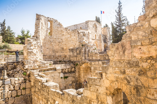 Remains of Bethesda Pool, Jerusalem Poster