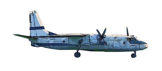 Art illustration of the airplane