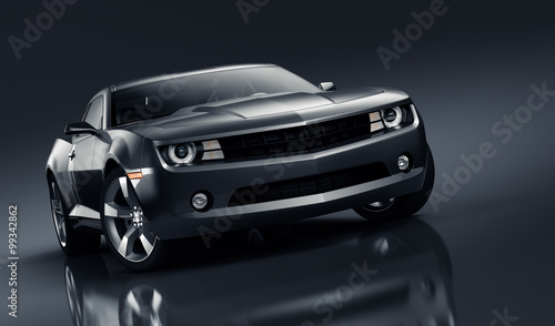 Black sports car - 99342862