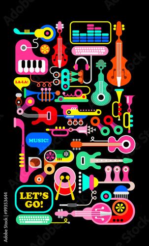 Fototapeta Musical Composition