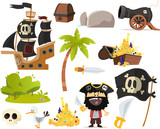 Stock De Pirates Wall Sticker