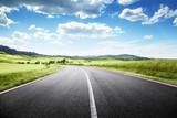 Fototapety asphalt road in Tuscany, Italy
