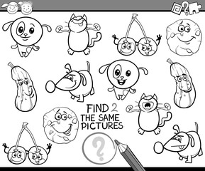 kindergarten game for coloring